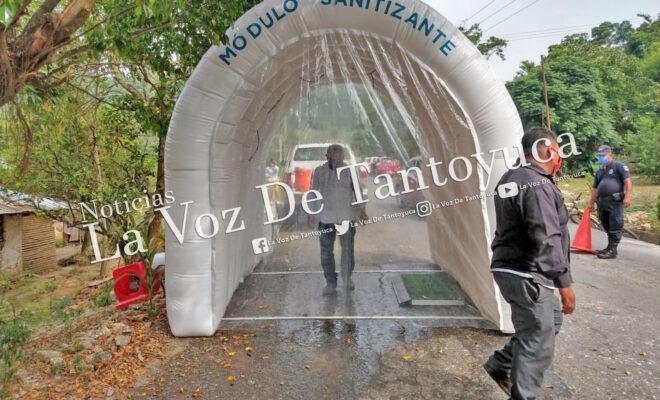Instalan módulos sanitizantes en Chicontepec   LVDT