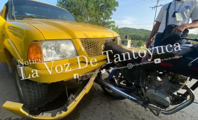 Motociclista resulta lesionado tras percance, en Tantoyuca | LVDT