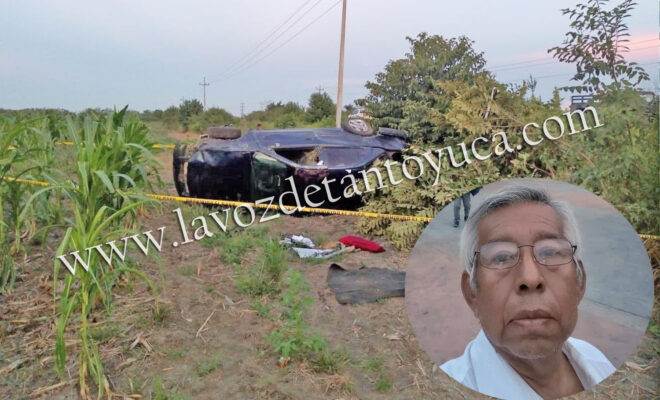 Se mata profesor tras aparatosa volcadura   LVDT