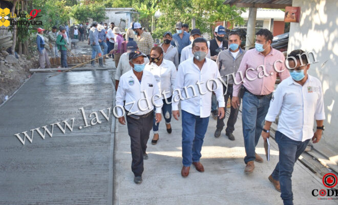 Supervisa Pedro Adrián Martínez Estrada rehabilitación de calles en Lindero Xoquixhual   LVDT