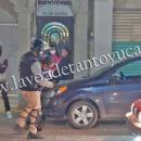 Percance vial en la Zona Centro deja solo daños materiales | LVDT