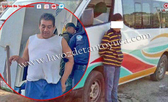 Detienen a ebrio transportista en Tantoyuca; puso a un menor de edad a conducir   LVDT