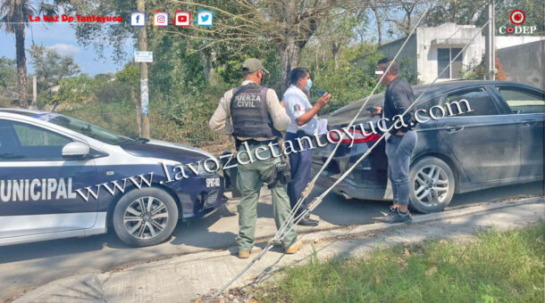Cae carro sin placas en operativo de seguridad   LVDT