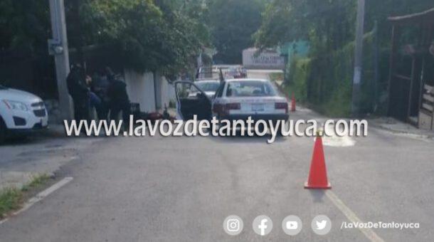 Motociclista resulta lesionado tras ser impactado por taxista