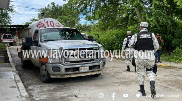 Localizan en Tantoyuca pipa de gas robada en Tuxpan