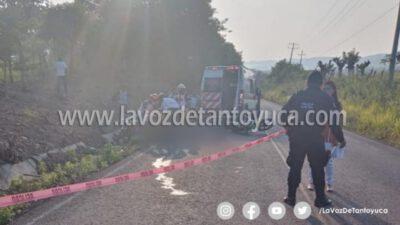 Muere joven motociclista en accidente