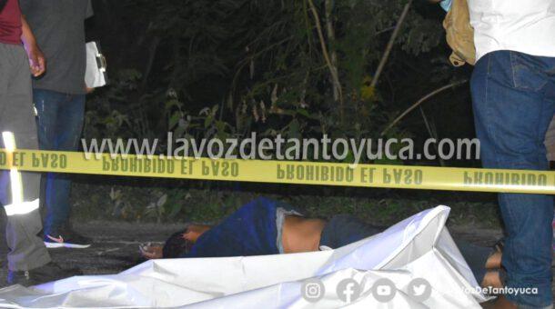 Muere motociclista en trágico accidente, en Tantoyuca
