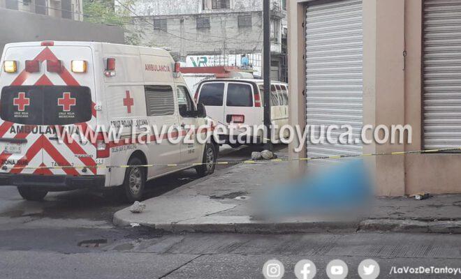 Arrollan a indigente y muere en el centro de Tampico