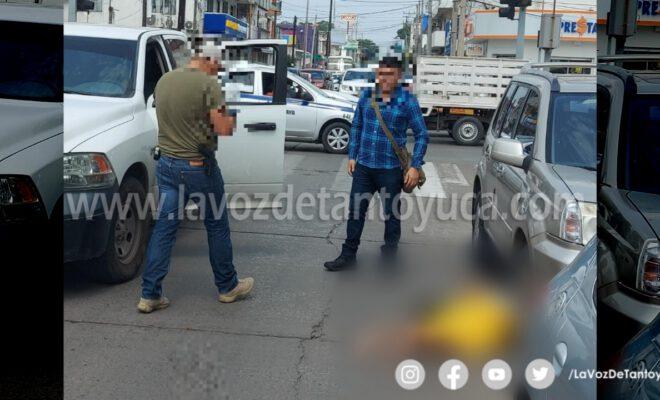 Policías Investigadores atropellan a mujer