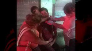 Masculino se corta las venas del cuello, en Potrero del Llano