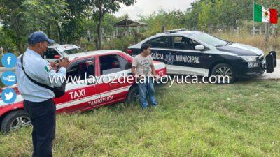 Aseguran a taxista por conducir en estado de ebriedad