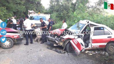 ¡Carreterazo! Brutal encontronazo dejó 4 heridos