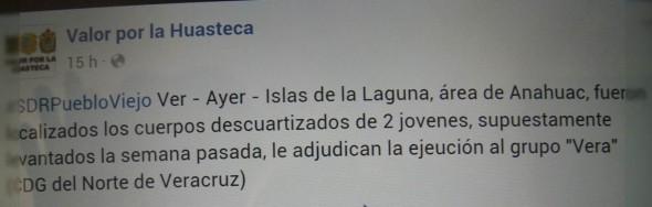 Valor por la Huasteca confirmó lo dicho por las autoridades federales