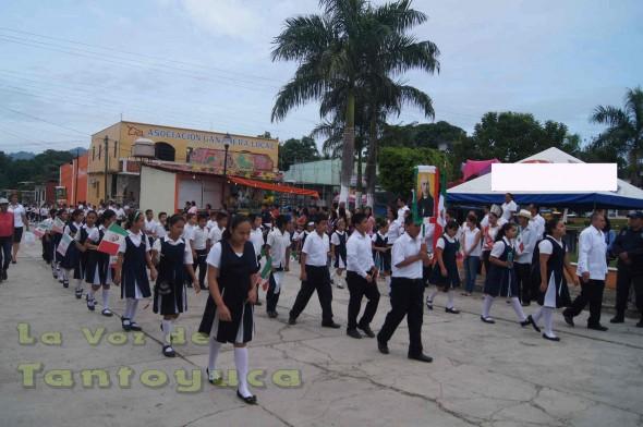 Buena participacion de la escuela primaria del municipio de Chalma.
