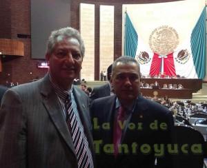 El Diputado Federal Gaudencio Hernández Burgos, felicitó al ejecutivo municipal de Tempoal, C.P. Patricio Chirinos del Ángel por su primer informe de Gobierno.