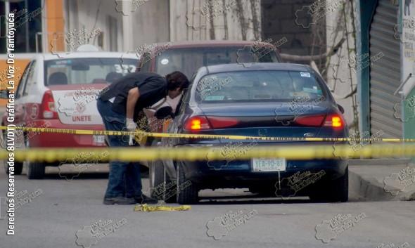 """En la gráfica se observa el vehículo en que fue ultimado """"el contador"""". Foto: La Voz De Tantoyuca"""
