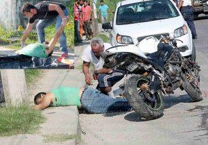 Acababa de comprar la moto y la andaba estrenando cuando se impactó contra un poste y perdió la vida de manera instantánea. Foto: Redes Sociales.