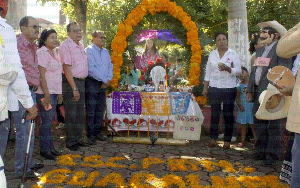 Demostración de altares en Chalma. Foto: LVDT.