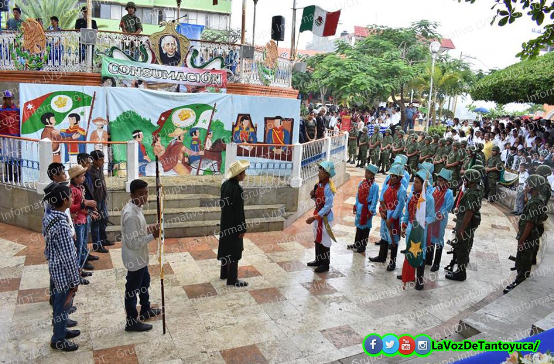 En Tantoyuca, autoridades conmemoran consumación de la Independencia. Agencia LVDT.